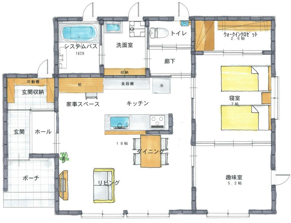 方丈 モデルプラン平屋 設計図